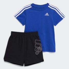 3-STRIPES FRENCH TERRY SHORTS SET